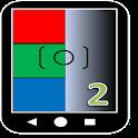 three primary colours camera icon