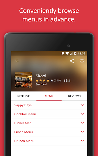 Screenshot 16 for OpenTable's Android app'