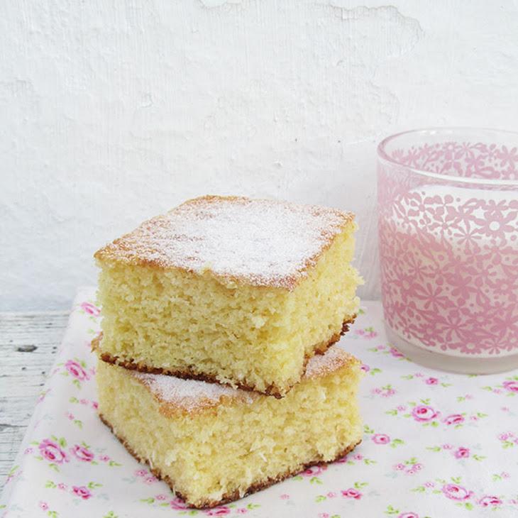 Coconut and Lemon Fluffy Squares Recipe