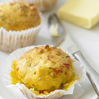 Corn, Pepper and Cheese Muffins.