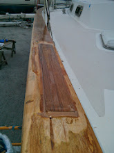 Photo: starboard, aft spline set in epoxy