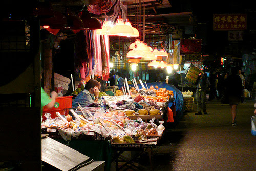 fa yuen street, fruit stand, hawker, hong kong, street market, 水果攤, 花園街