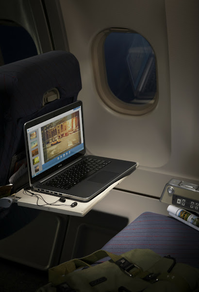 Photo: Dell XPS 14 laptop on a plane.More details here: http://dell.to/Oj6LIW