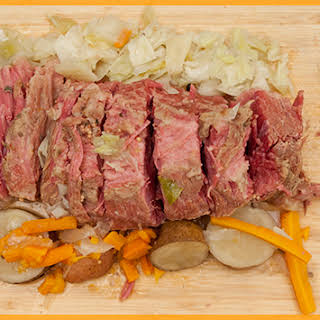Slow Cooked Corned Beef Brisket with Vegetables.