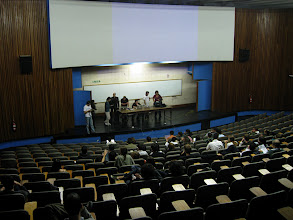 Photo: There were 70 students, and many good questions
