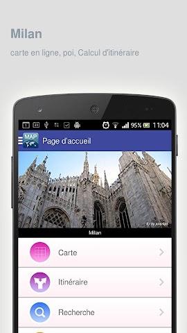 Screenshot 1 Karte von Mailand offline