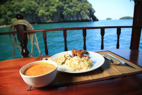 Feast on a Thai buffet dinner