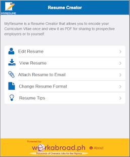 MyResume Resume CreatorAndroid Apps on Google Play
