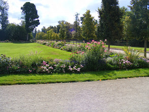 Photo: The grounds' gardens are somewhat informal, but well maintained.