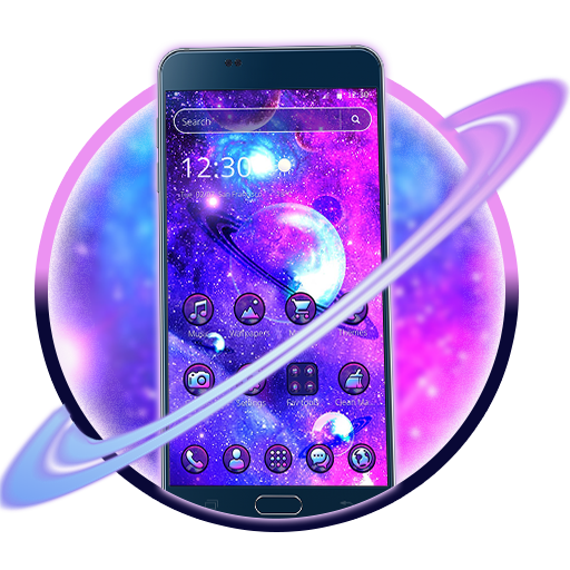 Neon Space Galaxy 2D Theme Android APK Download Free By Cool HD Themes & Live Wallpapers