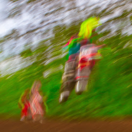 by Jim Jones - Abstract Light Painting ( art, color, motocross, motorcycles, abstract, colorful )