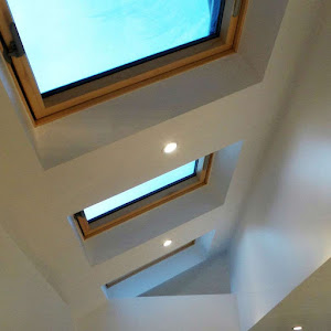 installed velux roof windows