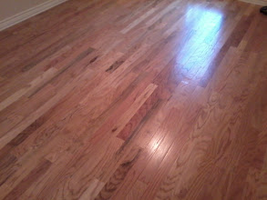 "Photo: Old Glory 3"" wide planks OGO321 color wildemess Value grade from Woodworth wood flooring installed nail down upstairs office  by http://www.floorswedo.com"