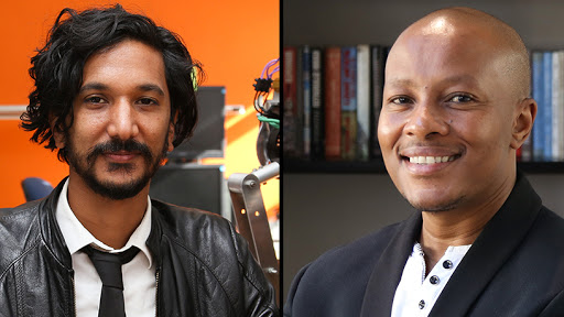 Associate professor Amir Patel (left) and Dr Mohohlo Tsoeu, from the University of Cape Town.
