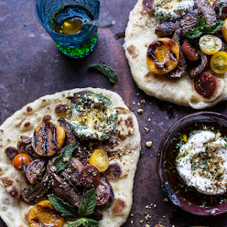 Grilled Lamb Tikka with Caramelized Apricots + Pine Nut Labneh.