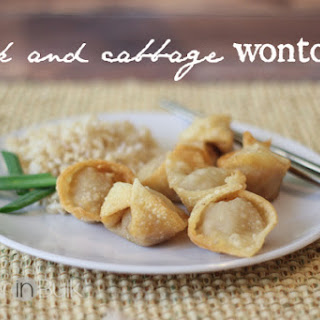 Pork and Cabbage Wontons.