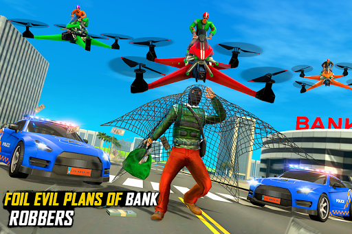 Drone Rescue Simulator: Flying Bike Transport Game android2mod screenshots 1