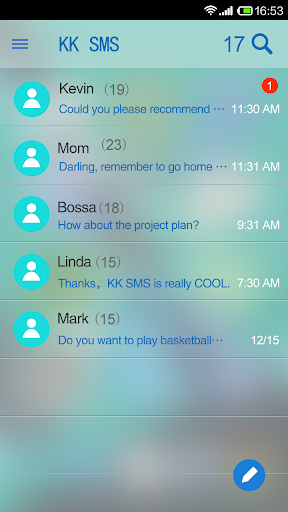 KK SMS Frosted Glass Theme