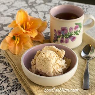 No Egg Peach Ice Cream