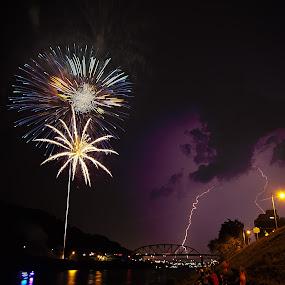 Fireworks on the Kanawha by Tiffany Bailey - Public Holidays July 4th