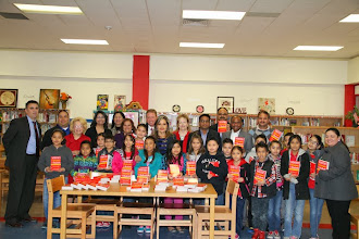 Photo: SSAISD board members, Principals and TASA EC along with the 3rd grade students of Frank Madla Elementary School