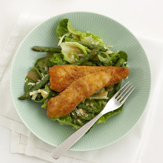 Crusted Chicken Tenders with Asparagus Salad