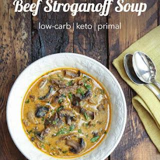 Keto Beef Stroganoff Soup Recipe