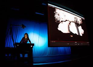 Photo: live demonstration of animation magic.