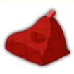 ビーズクッション赤