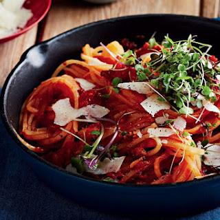 Parsnip Spaghetti All'amatriciana