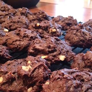 Dark Chocolate Cherry Cookies.