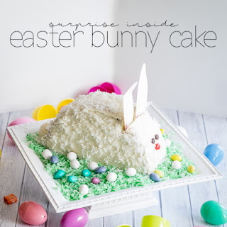 Surprise Inside Easter Bunny Cake.