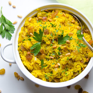 Jeweled Yellow Rice And Pignoli
