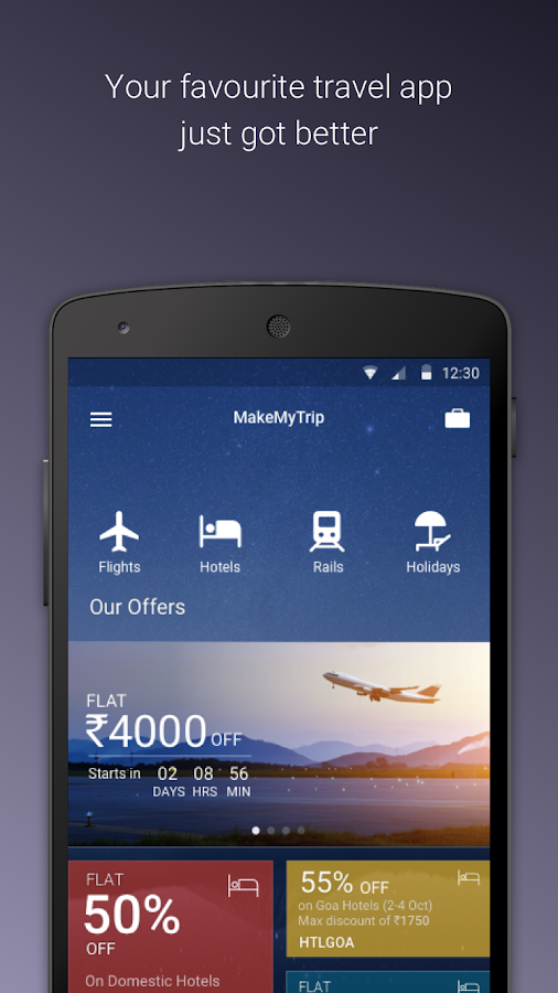 MakeMyTrip-Flights Hotel IRCTC- screenshot