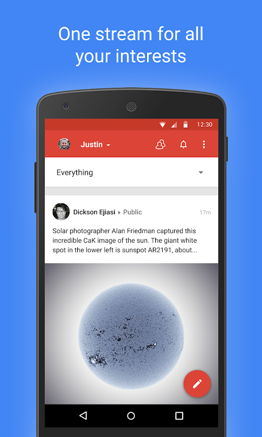 Google+- screenshot