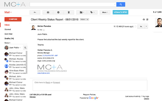 Gmail to Salesforce