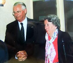 Photo: Dominee De Jong en zijn echtgenote waren die dag eregasten