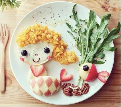 DIYの食品の装飾