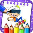 The loude coloring houses game