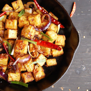 Fiery Garlic Tofu [Vegan]