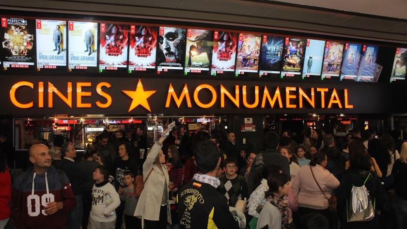 Las salas del Monumental, durante la Fiesta del Cine.