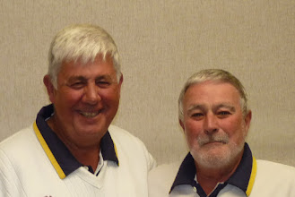 Photo: Always smiling- Bob King & Colin Francis Men's Pairs runners up.