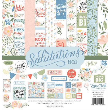 Echo Park Collection Kit 12X12 - Salutations No. 1