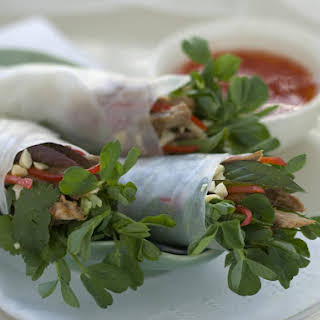 Duck and Chili Spring Rolls.