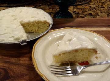 One Layer White Cake