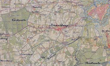 Photo: 1840 kaart Princenhage. burgemeester was toen Gerardus Cornelus Luijsterburgh, ambtsperiode: 1838 - 1843. Voor die tijd was hij (sedert 1815) 'Schout' van Princenhage
