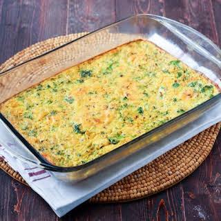 Broccoli & Cauliflower Rice Quiche.