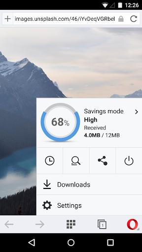Opera Mini 網頁瀏覽器