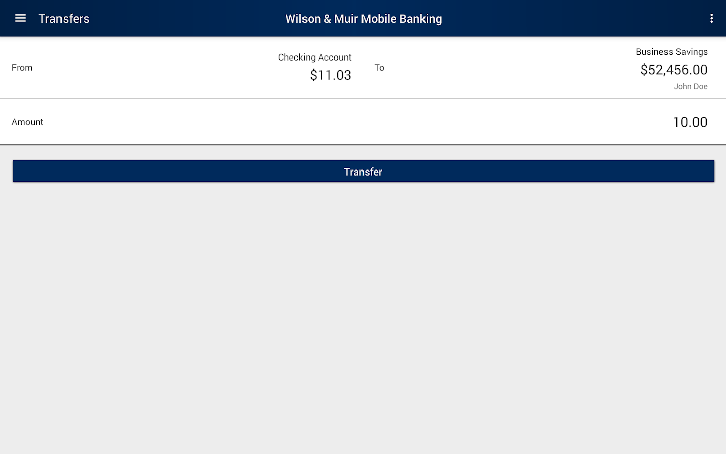 Wilson & Muir Mobile Banking- screenshot