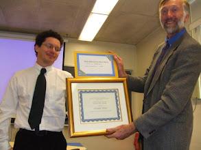 Photo: Presentation of prize